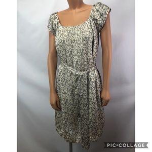 Jacob floral dress short sleeves 100% silk Sz 14